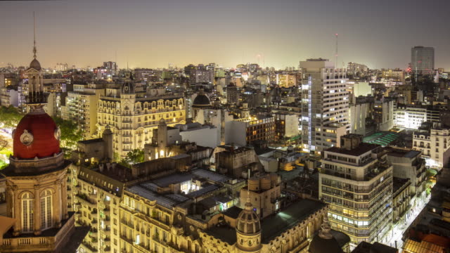 time lapse panorama of buenos aires, argentina - buenos aires stock videos & royalty-free footage