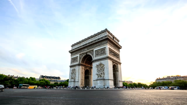 time lapse : paris, champs-elysees - arch stock videos & royalty-free footage