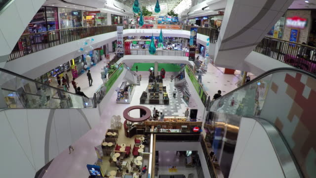 Time Lapse: People Shopping mall and retails store interior for background