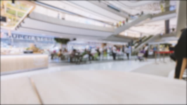 time lapse people shopping mall