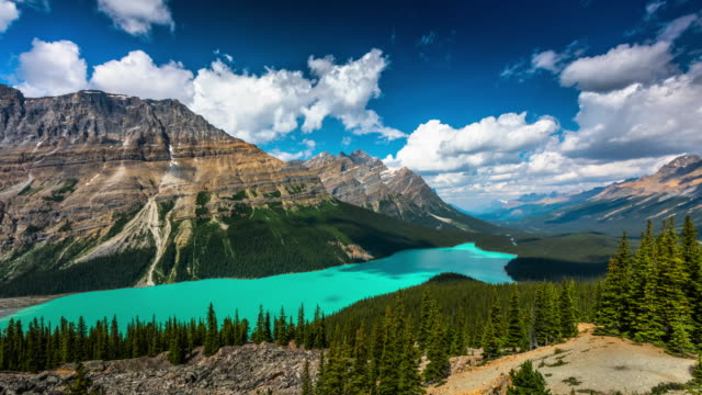 Time Lapse : Peyto Lake in Banff National Park, Canada