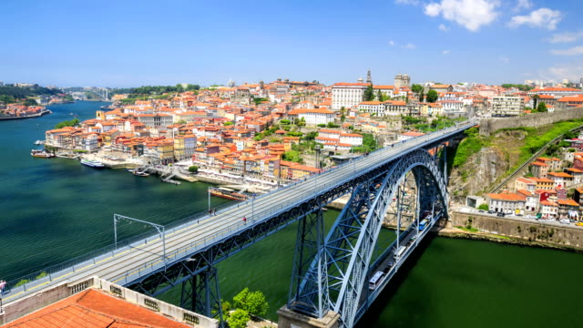 Time lapse : Portugal with the Dom Luiz bridge