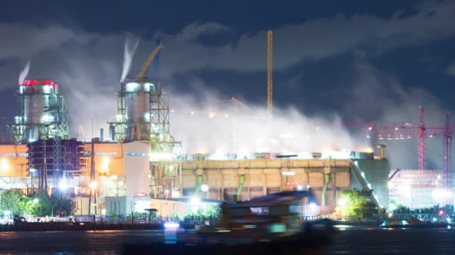 time lapse power plant - steam stock videos and b-roll footage