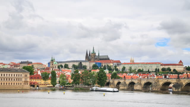 4k time lapse : prague castle - hradcany castle stock videos and b-roll footage