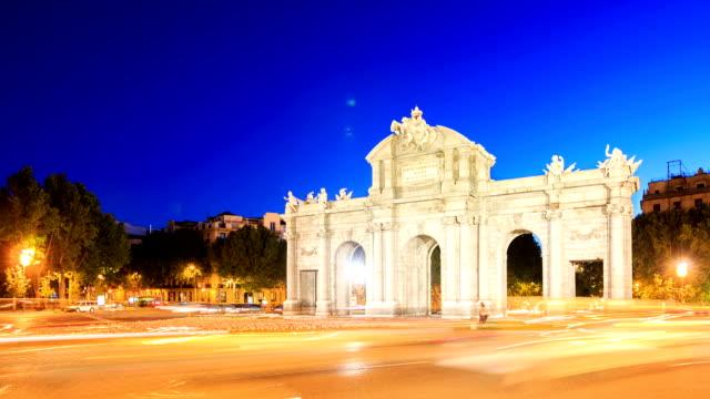 HD Time lapse : Puerta de Alcala, Madrid, Spain