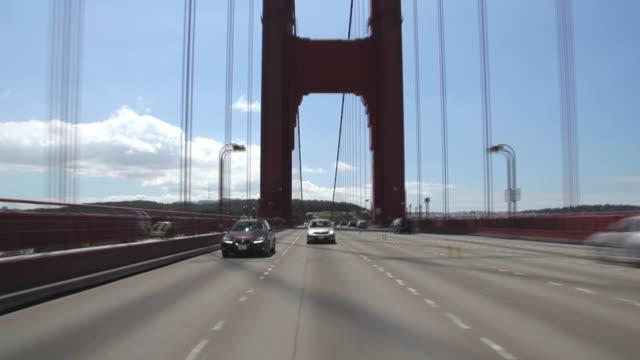 Time Lapse Rear POV over the Golden Bridge