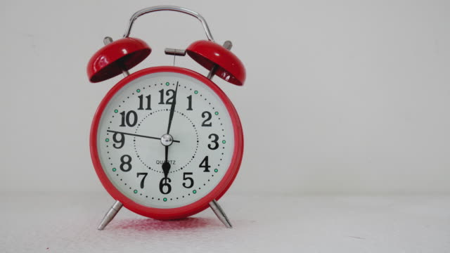 time lapse red alarm clock hand second moving. - ring stock videos and b-roll footage