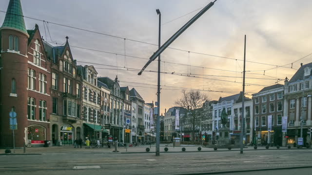 4k time lapse : road in the hague - the hague stock videos and b-roll footage