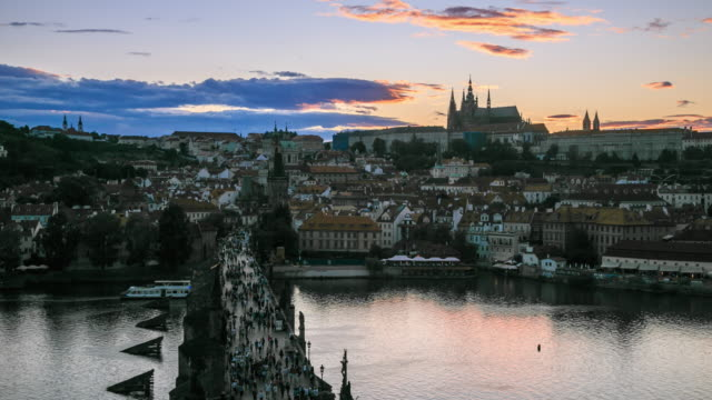 4k time lapse :romantic city of prague - traditionally czech stock videos & royalty-free footage