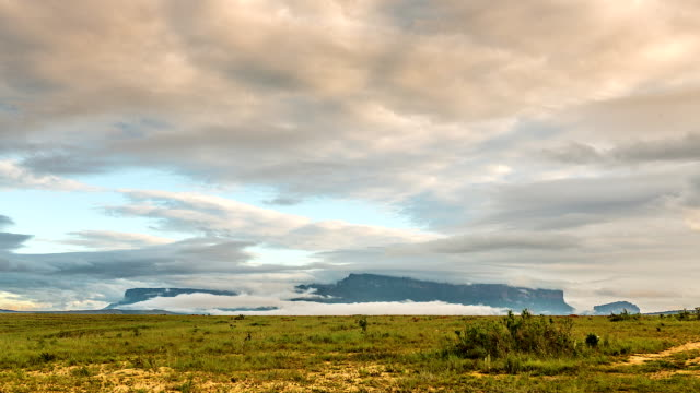 Time lapse Roraima Tepuy, Gran Sabana, The Lost World, Venezuela