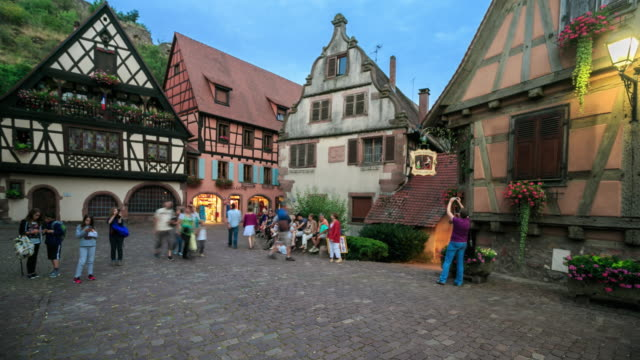 4k time lapse : rothenburg ob der tauber - rothenburg stock videos and b-roll footage