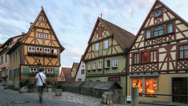 3k zeitraffer : rothenburg ob der tauber - timber stock-videos und b-roll-filmmaterial