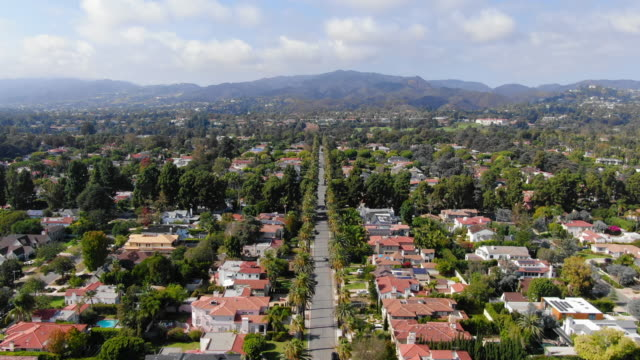 time lapse: santa monica residential district and mountains - santa monica, california - lockdown viewpoint stock videos & royalty-free footage