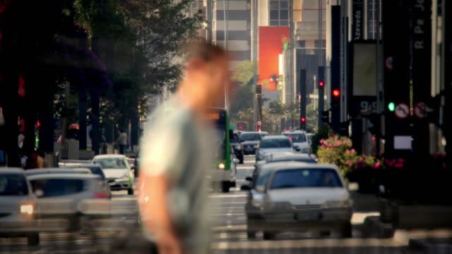 stockvideo's en b-roll-footage met time lapse. sao paulo. busy traffic - commercieel landvoertuig