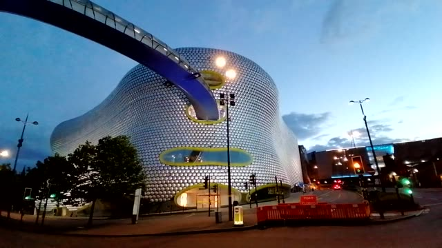 time lapse - selfridges birmingham bullring iconic - birmingham england stock videos & royalty-free footage