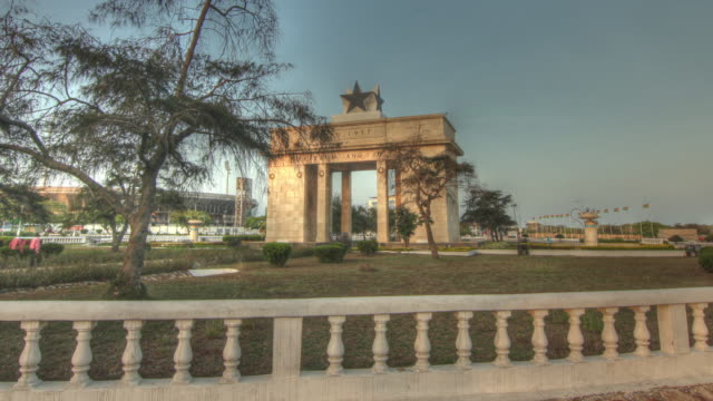 time lapse sequence around the independence arch in the city of accra. - ghana stock videos & royalty-free footage