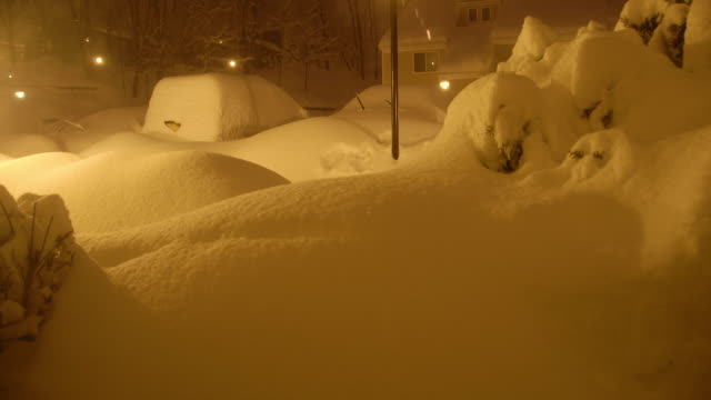 time lapse sequence - deep snow piling up during a blizzard - hudson valley stock videos and b-roll footage