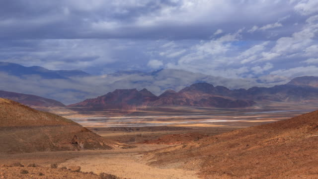 Time lapse sequence showing clouds moving over Death Valley in California.