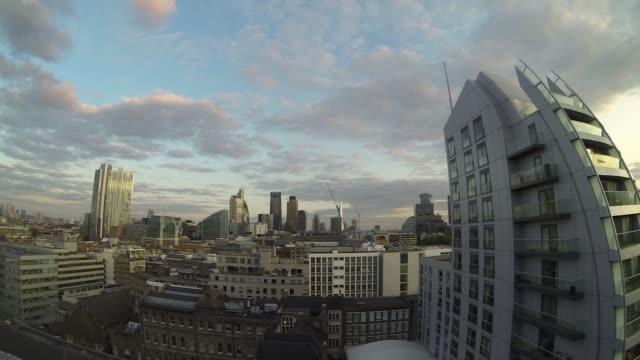 city of london skyline timelapse - office block exterior stock-videos und b-roll-filmmaterial