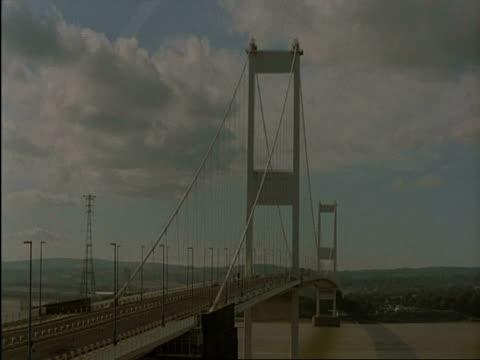 wa time lapse severn bridge traffic movement, bristol, great britain - county of bristol stock videos & royalty-free footage