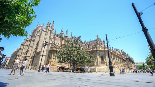 4k Zeitraffer : Kathedrale von Sevilla.