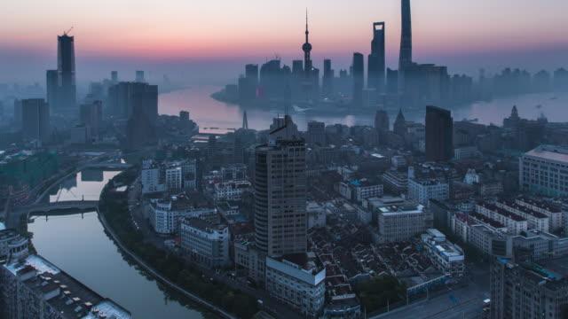 Time lapse HA WS Shanghai morning sunrise