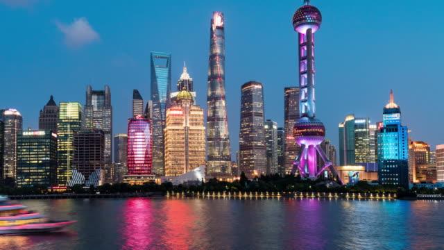 Time Lapse Shanghai Skyline at night