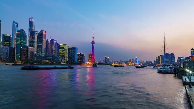 時光流逝上海地平線日落 - 10秒或更長 個影片檔及 b 捲影像