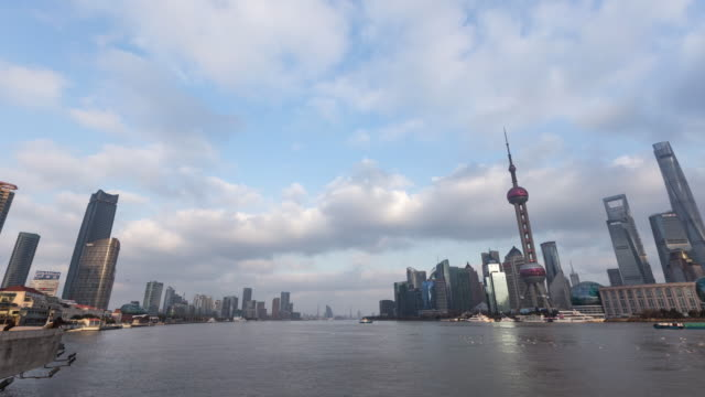 time lapse shanghai skyline / shanghai, china - shanghai world financial center stock videos & royalty-free footage