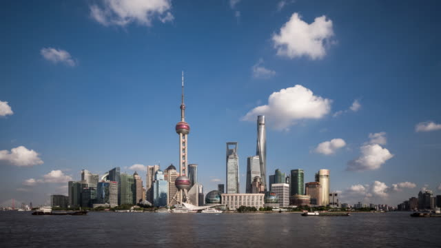 Time Lapse - Shanghai Skyline (Zoom In)