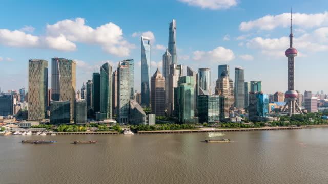 Tijd Lapse Shanghai Skyline