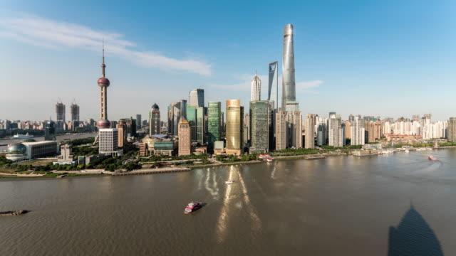 Time Lapse Skyline von Shanghai