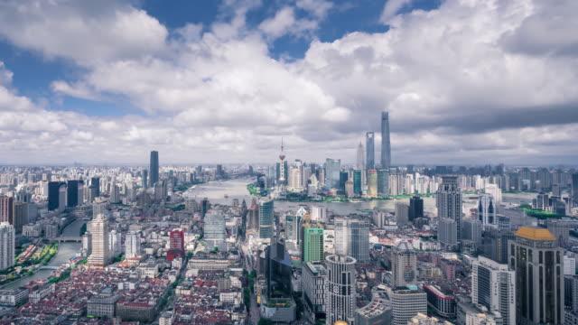 time lapse - shanghai skyline - shanghai stock videos & royalty-free footage