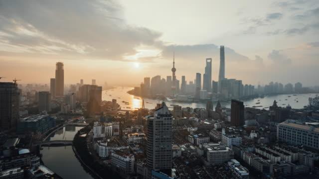 Time Lapse - Shanghai Skyline_