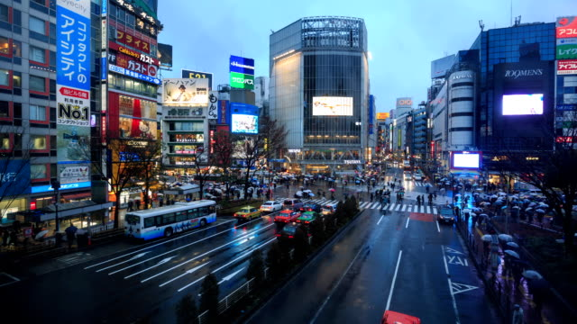 HD-Zeitraffer: Shibuya-Kreuzung