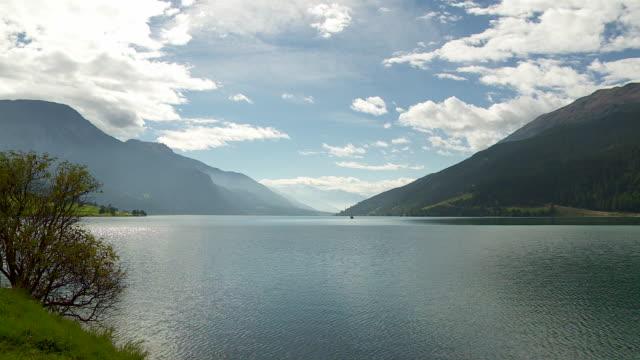 time lapse shooting, mountain lake in south tyrol - trentino alto adige stock videos & royalty-free footage