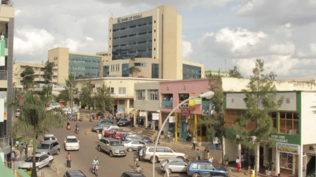 Time lapse shot across a main street in Kigali.