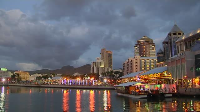 Time Lapse Shot Day To Night Port Louis Mauritius
