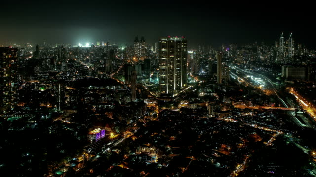 Time Lapse shot of Central and South Mumbai
