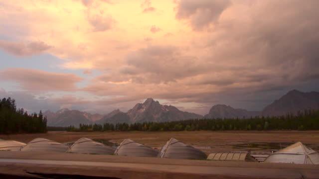 time lapse shot of dried lake of grand teton national park - grand teton national park stock videos & royalty-free footage
