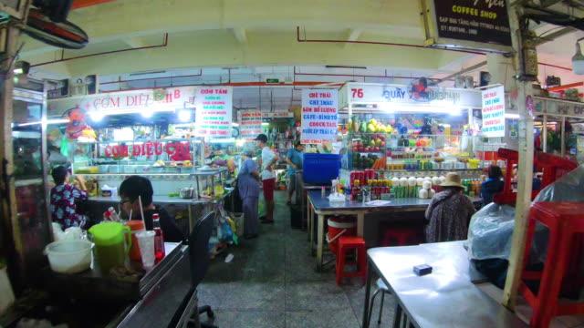 vidéos et rushes de time lapse shot of traditional vietnamese  food central - vietnam