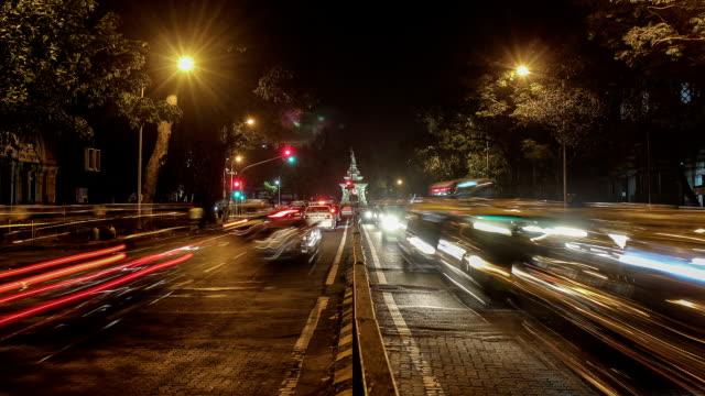 Time lapse shot of Traffic at Flora Fountain, South Mumbai