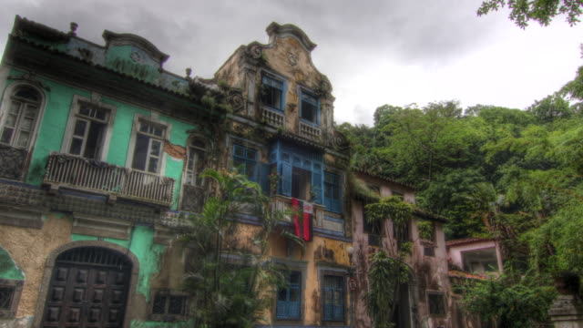 time lapse shot past beautiful old buildings in rio de janeiro. - colonial stock-videos und b-roll-filmmaterial