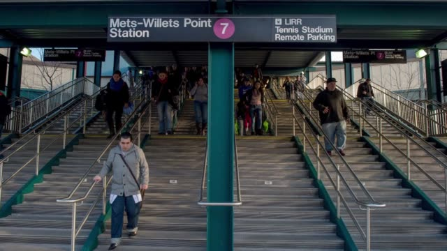 time lapse shots of citifield in queens new york during the day as mets fans rush into the stadium for a game time lapse footage of mets fans walking... - flushing meadows corona park stock videos and b-roll footage