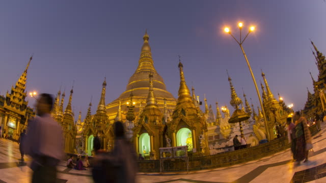 time lapse shwedagon pagoda - lamp shade stock videos and b-roll footage