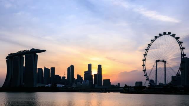 4K Time Lapse :Skyline of Marina Bay, Singapore