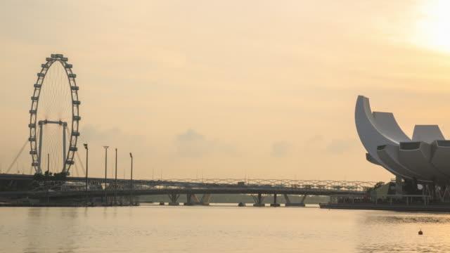 4k低速度撮影:街並みのマリーナベイシンガポール