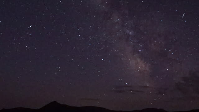 time lapse: starry sky over the daisetsuzan mountains - sternenspur stock-videos und b-roll-filmmaterial