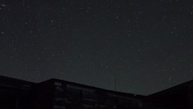time lapse: starry sky over the daisetsuzan mountains - 光跡点の映像素材/bロール