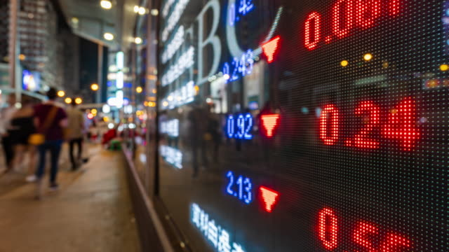 zeitraffer börsen- und börseninformationen - economy stock-videos und b-roll-filmmaterial